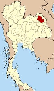 サコンナコーン県の位置