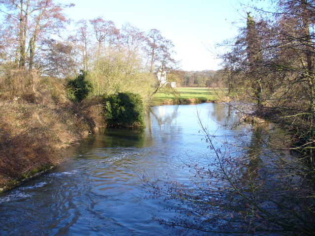 The Wey by Newark Priory - geograph.org.uk - 642719