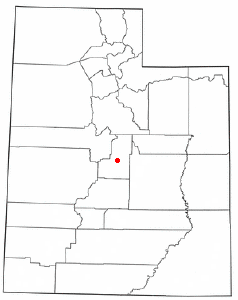 Location of Ephraim, Utah