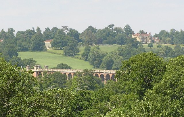 View of Balcombe Viaduct and Stone Hall from Borde Hill - geograph.org.uk - 20202