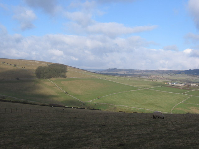 View over Coombs Dale to Highfields Farm - geograph.org.uk - 148937