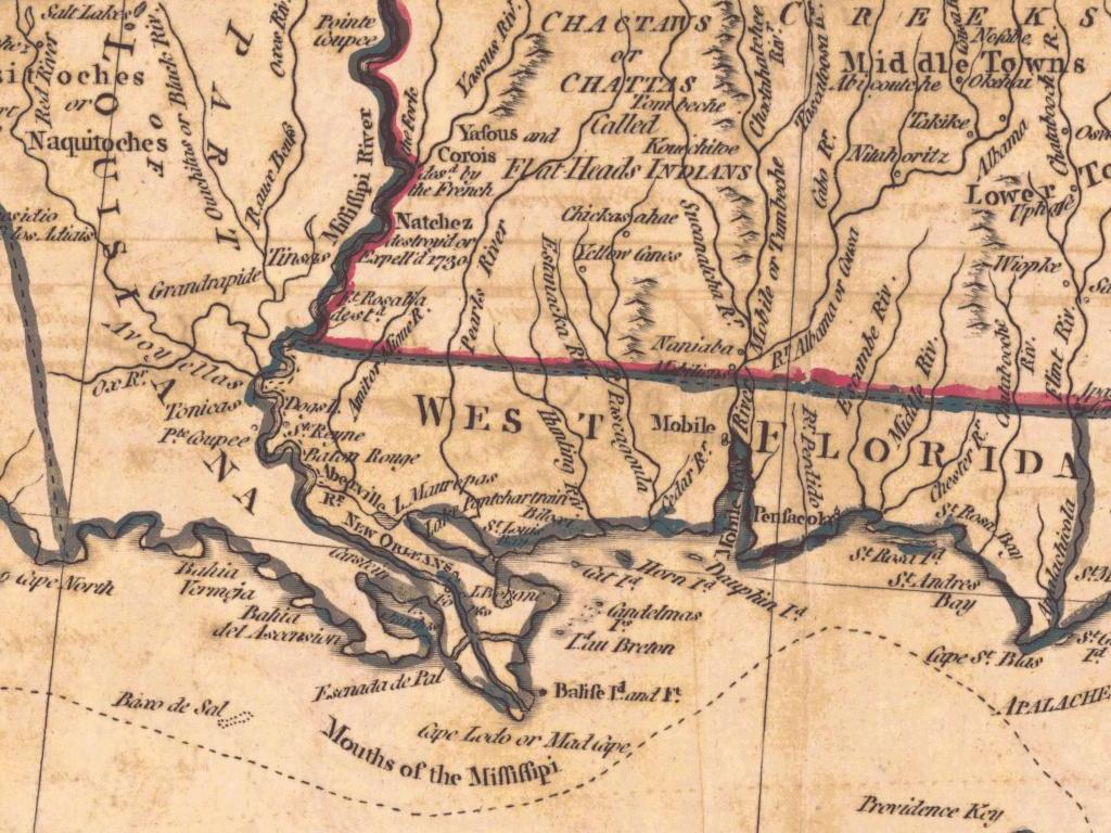 File West Florida And Louisiana In 1781 Jpg Wikimedia Commons