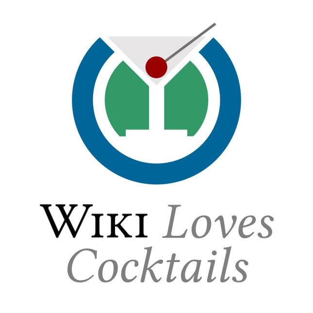Wiki Loves Cocktails logo symbol