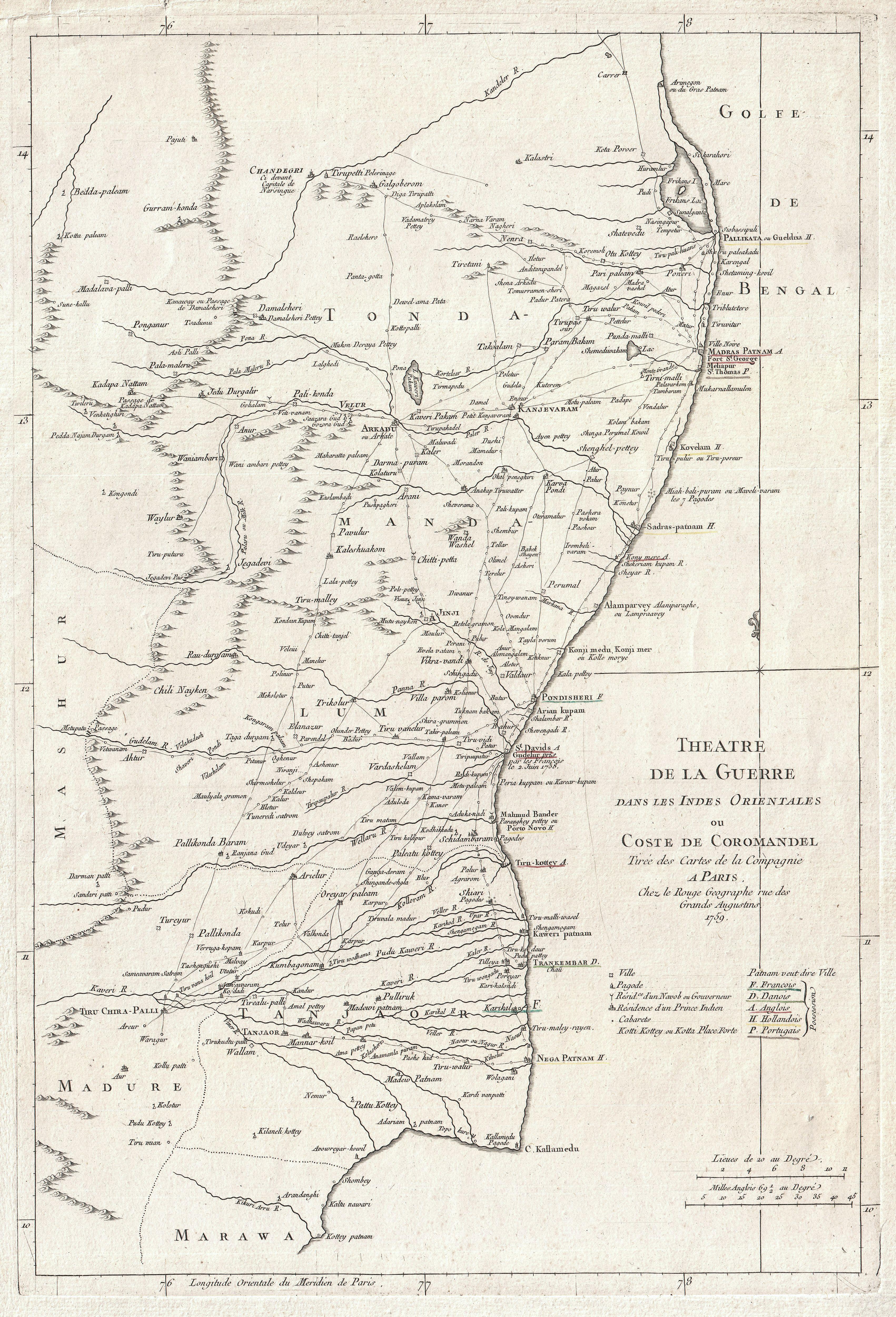 Madras India Map.File 1759 La Rouge Map Of Eastern India Or Coromandel Madras And