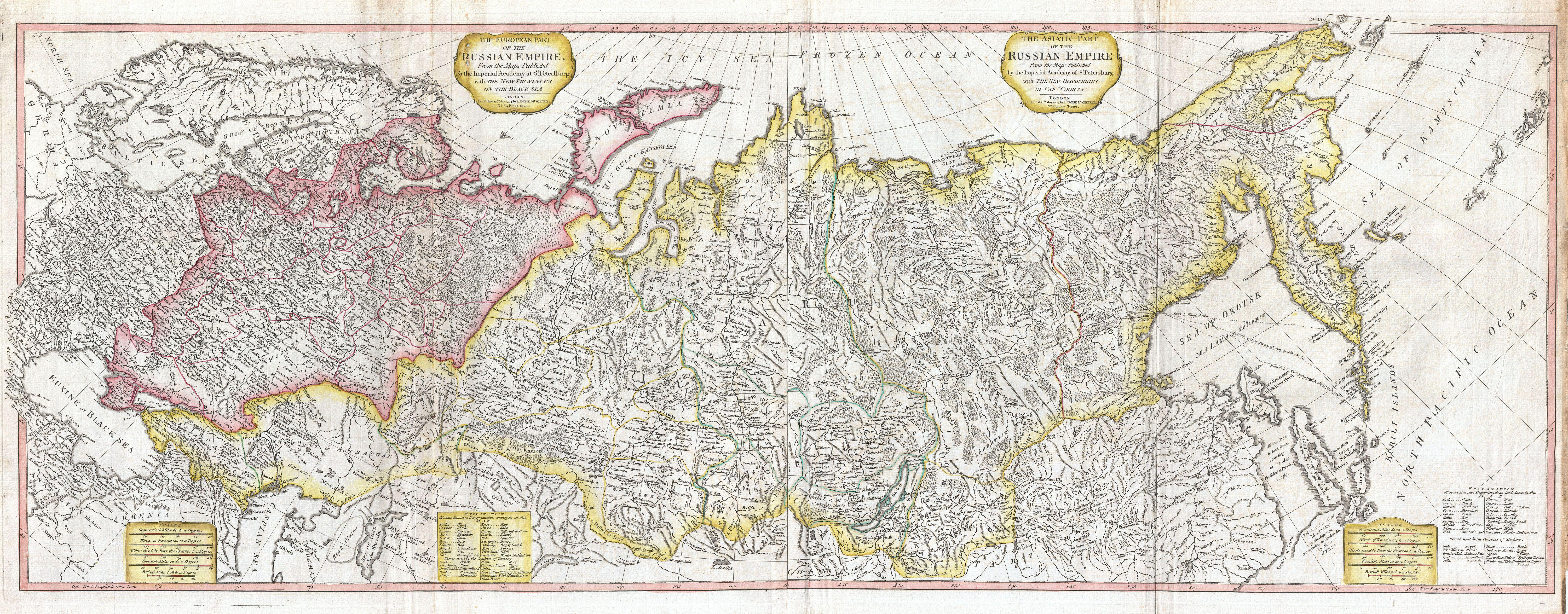 Russia Map 2011 Whittle Wall Map of Russia