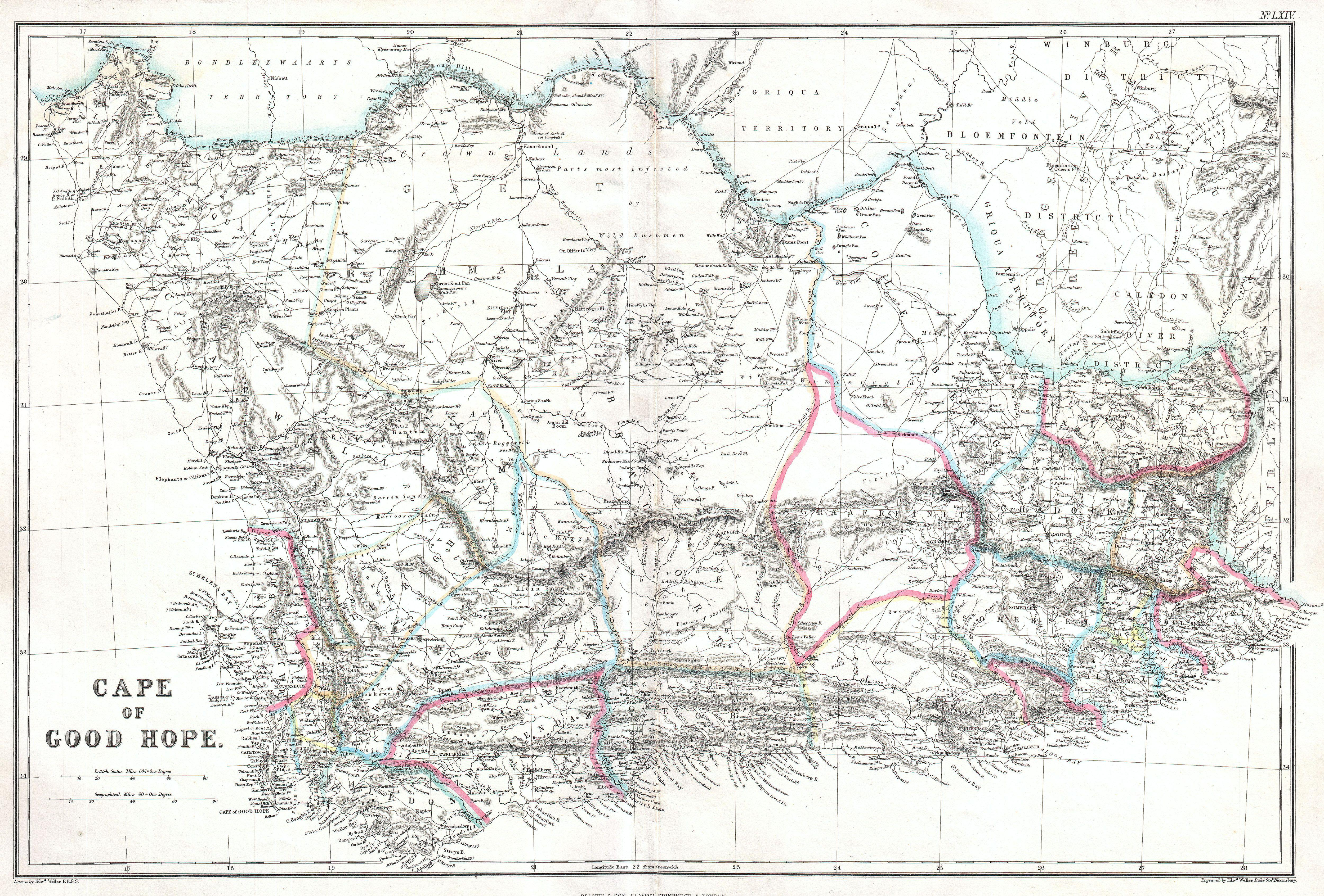 File1860 Blackie Map of the Cape of Good Hope  Geographicus