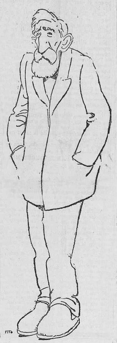 Caricatura de Bretón por Tito (La Libertad, enero de 1923)