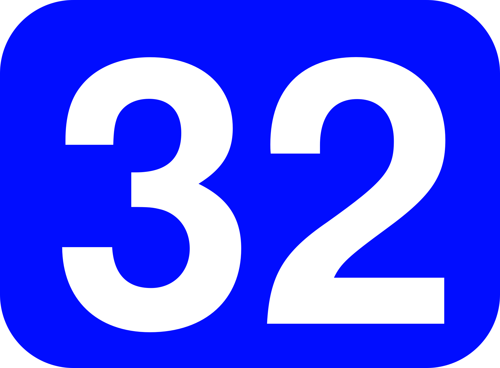 File:32 white, blue rounded rectangle.png