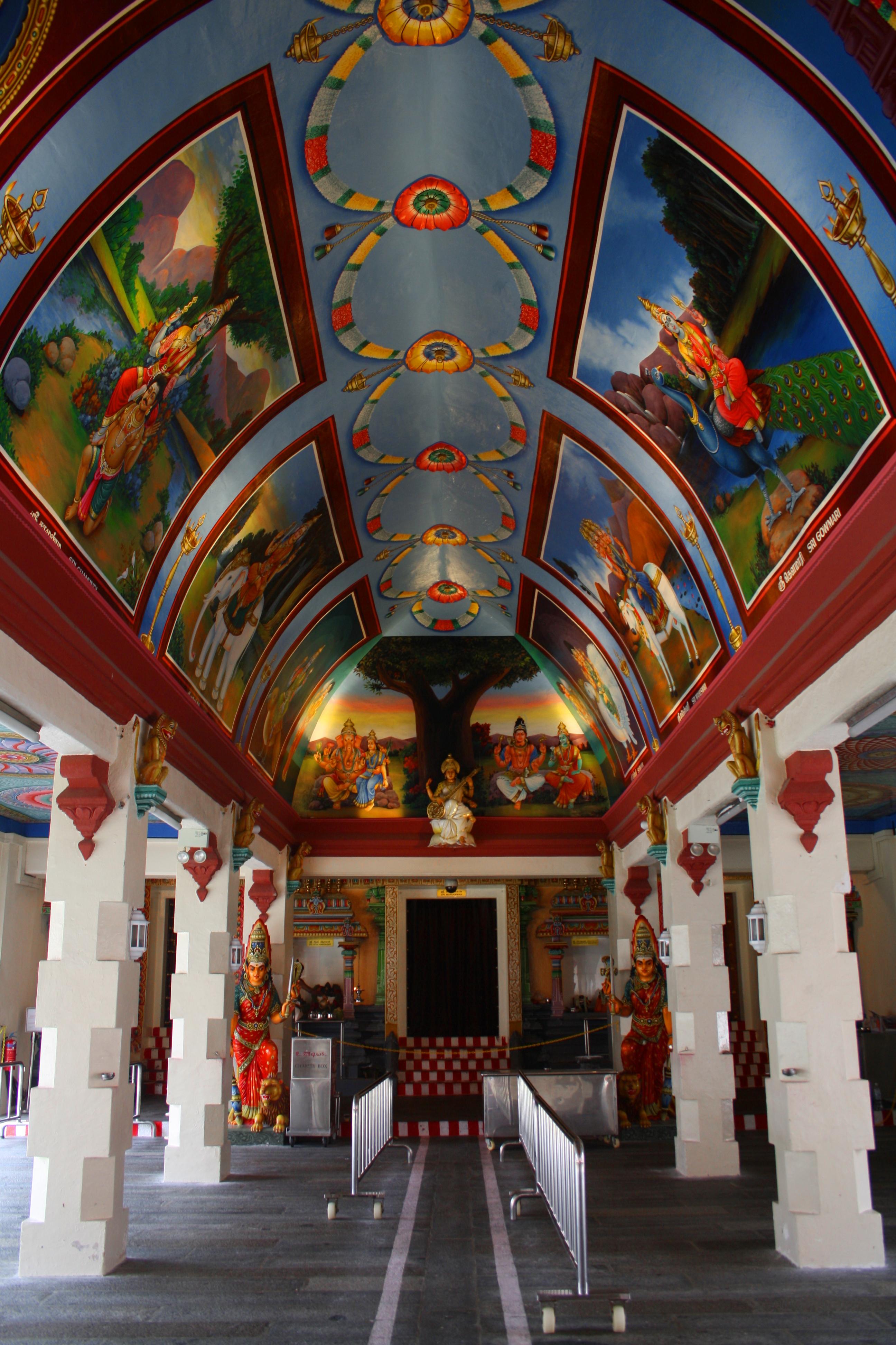 File:A view inside a Sri Mariamman Temple, Hindu ...