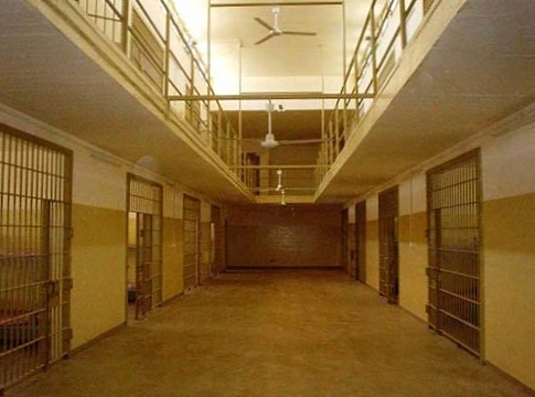 Abu Ghraib cell block, public domain photograph