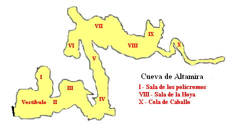 Archivo:Altamira cave plan Breuils numbers.jpg