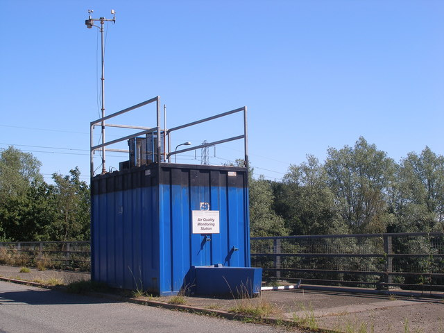 File:An Air Quality Monitoring Station above the M42 - geograph.org.uk - 210181.jpg