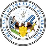 The Arkansas state seal.