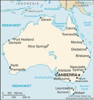 kart australia Liste over byer i Australia – Wikipedia kart australia