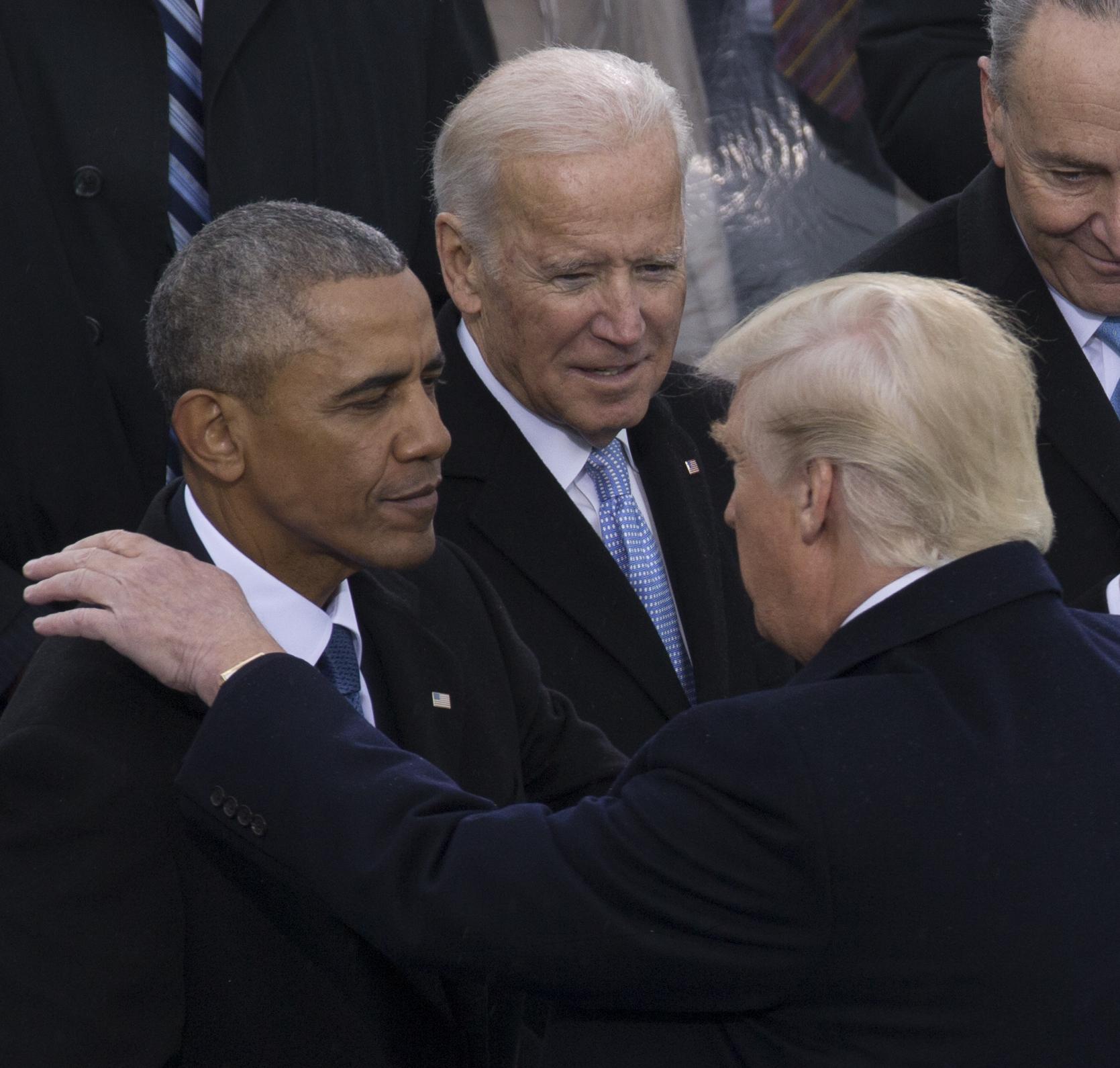 File:Barack Obama, Donald Trump, Joe Biden at Inauguration 01-20-17  (cropped).jpg - Wikimedia Commons