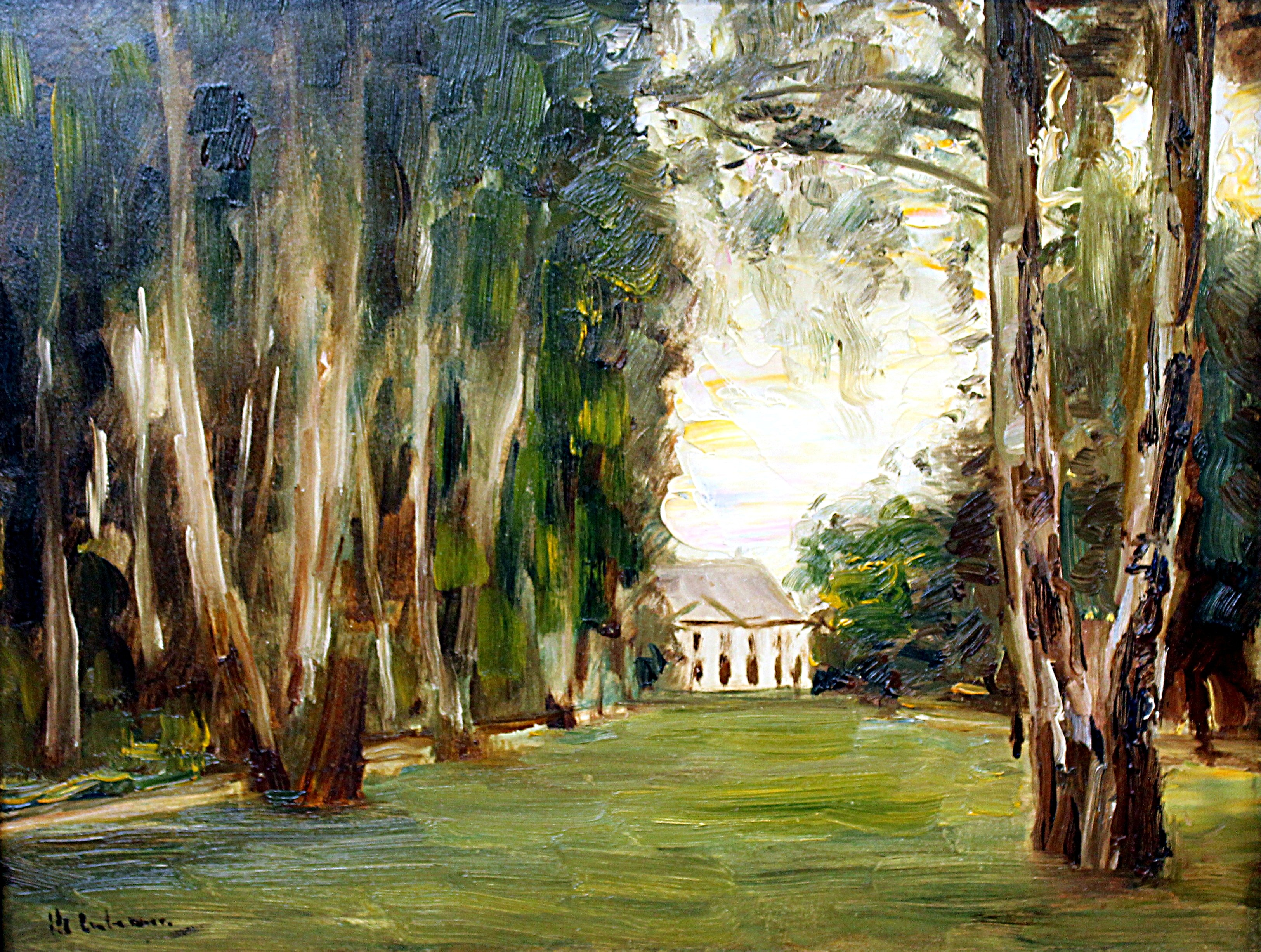 Berlin, Alte Nationalgalerie, Max Liebermann, Haus am Wannsee .JPG