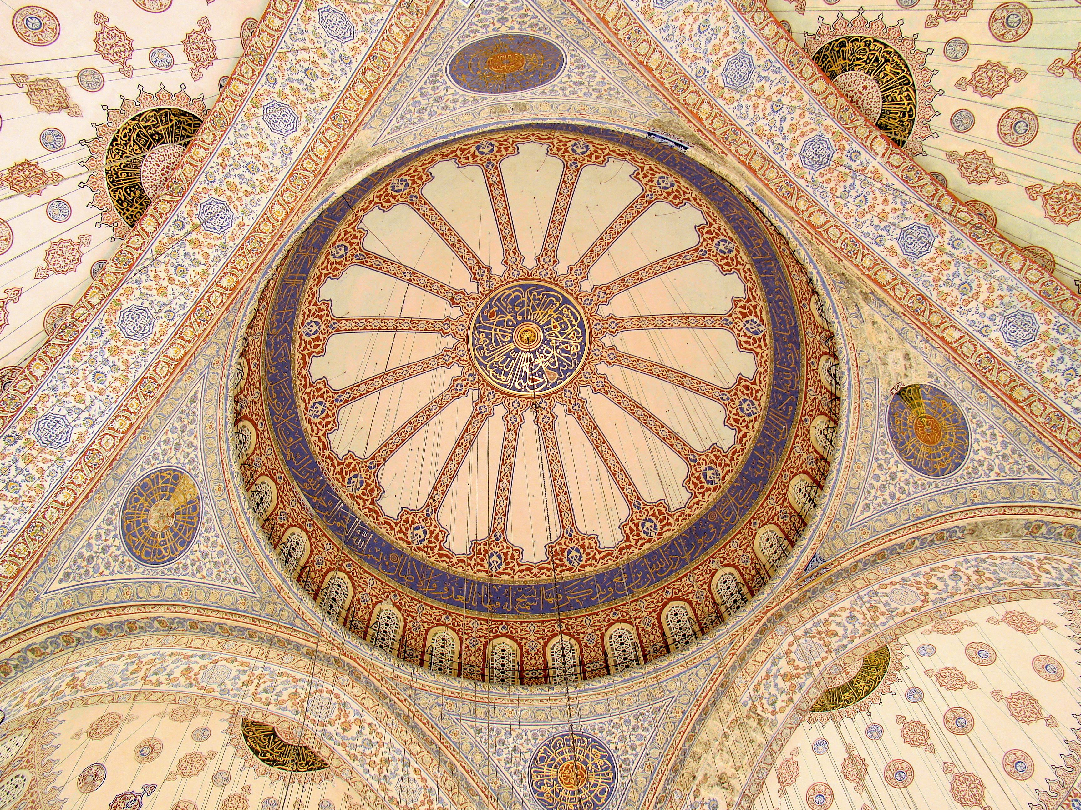 Blue Mosque Ceiling Blue Tiles.JPG