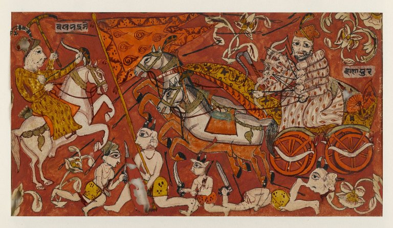 Image result for battle scenes from india in paintings