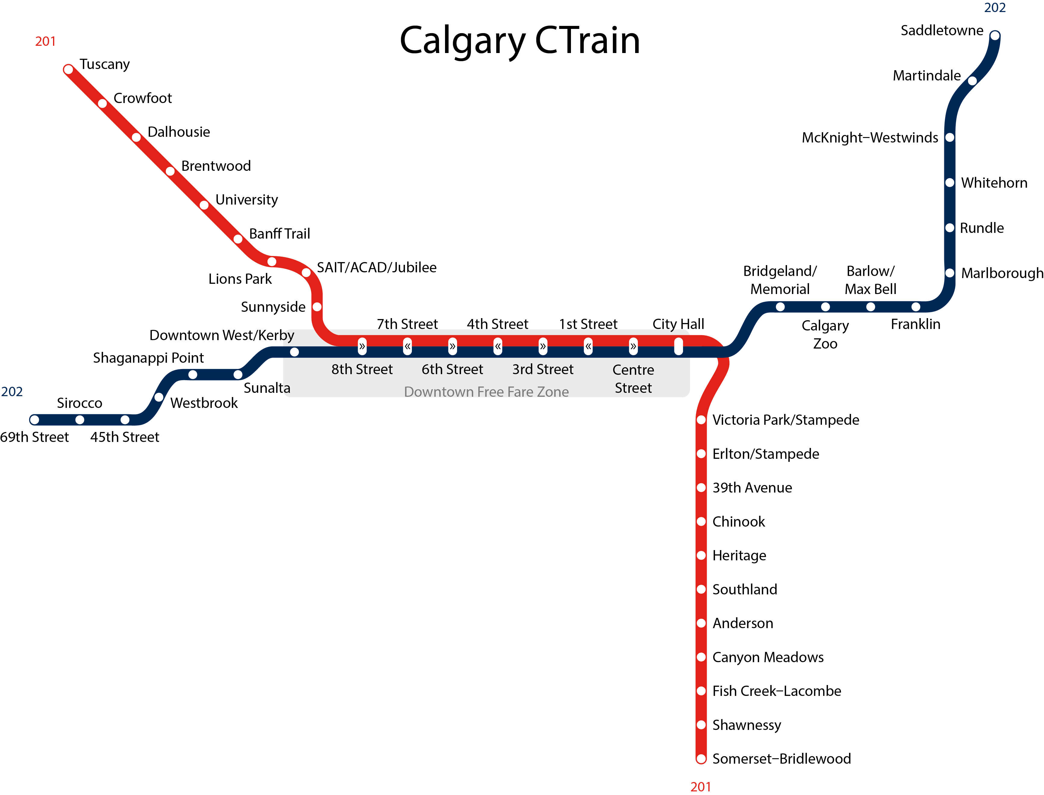 File Calgary Ctrain Map Png Wikimedia Commons