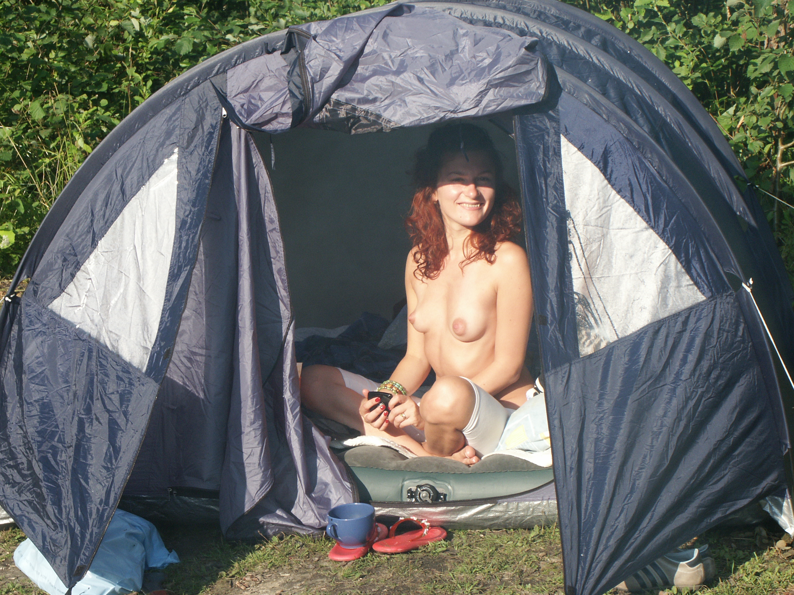 Your Naked women changing tent join told