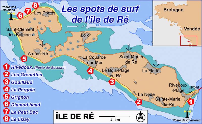File carte re spots wikimedia commons - Ile de re lieux d interet ...