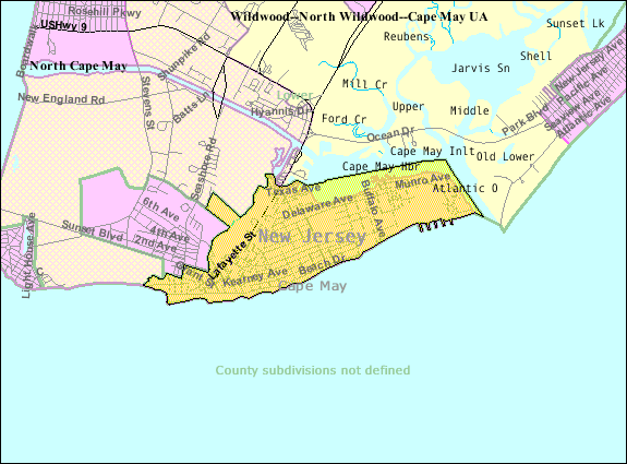Census Bureau map of Cape May New Jerseypng – Cape May Tourist Map
