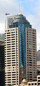 Crowe offices in Sydney, Australia at 1 O'Connell Street (right)