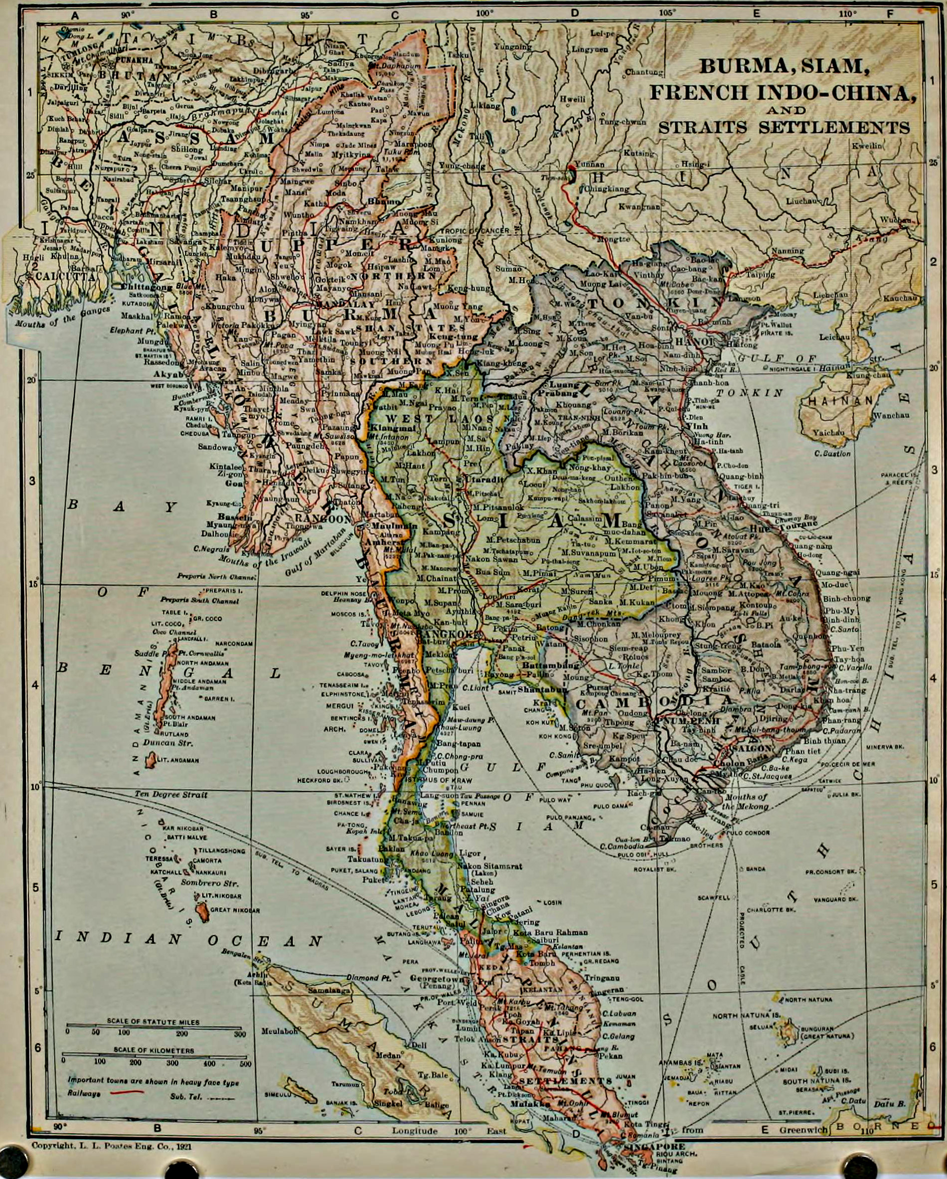 Filecolliers  Burma Map Of Burma Siam French Indo China