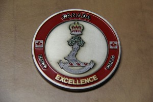 Commandant coin of excellence at Royal Military College of Canada may be awarded to students, alumni, or staff Commandant coin of excellence Royal Military College of Canada.jpg