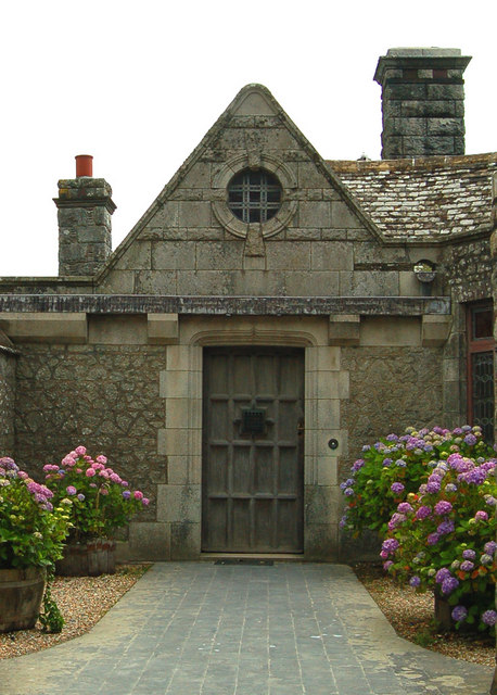 File Courtyard Door At Porth En Alls Geograph Org Uk