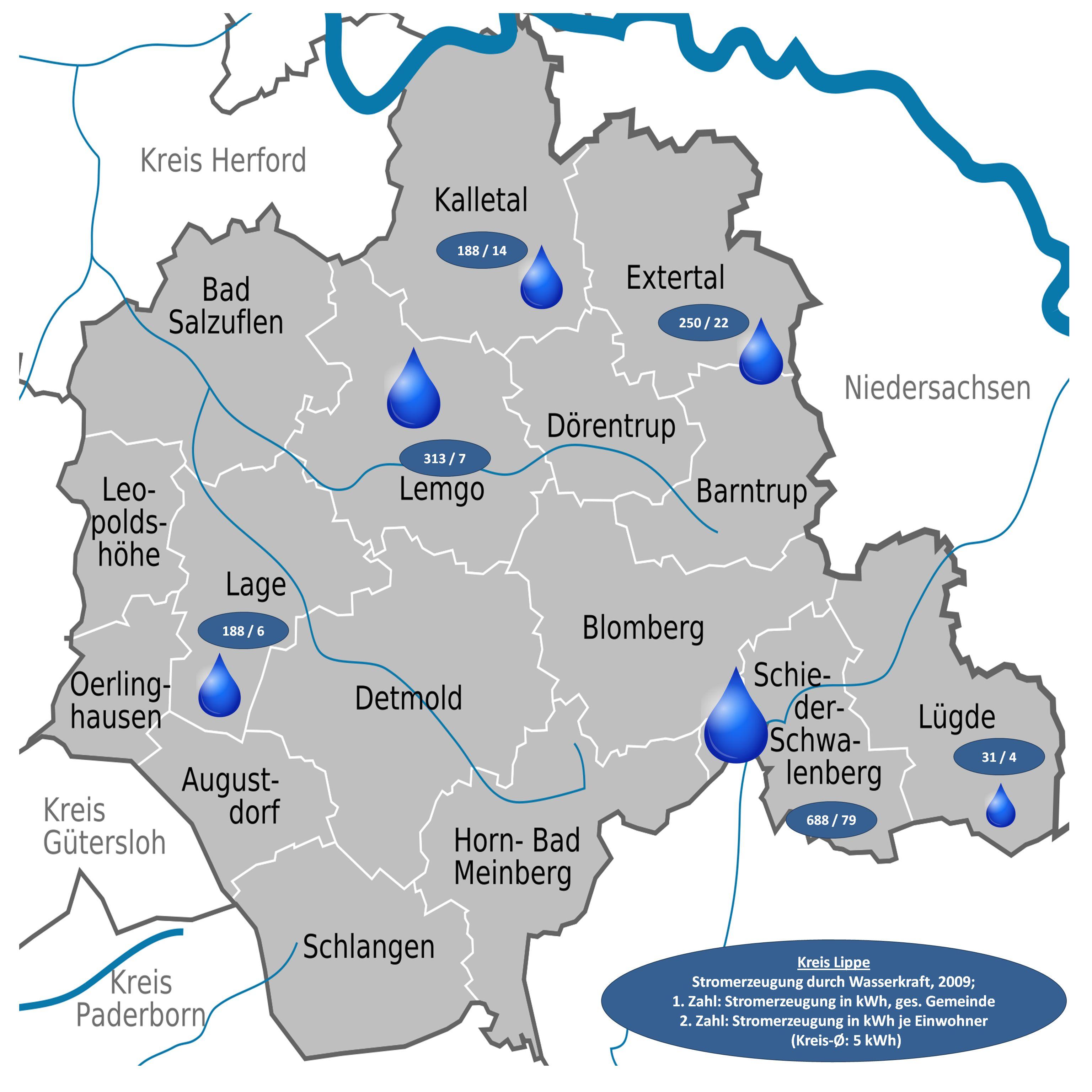 wasserkraftwerke in deutschland karte File:D+NW+LIP   Stromerzeugung durch Wasserkraft 2009.