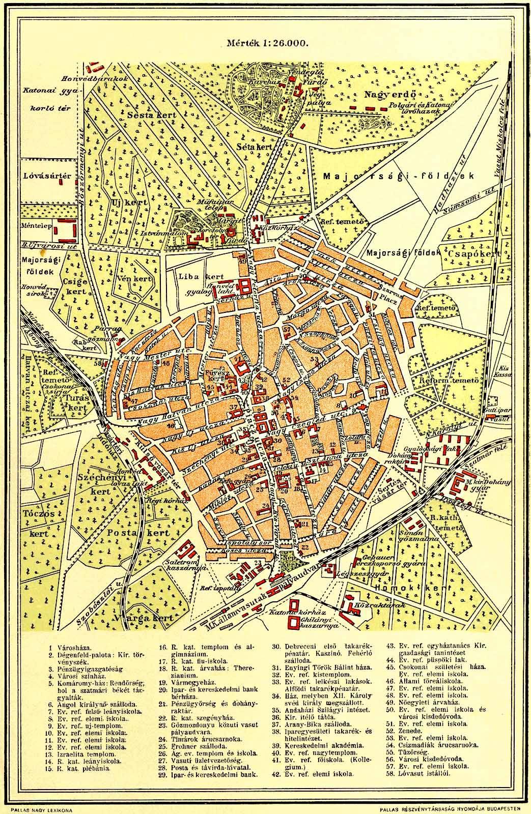 debrecen térkép File:Debrecen terkep Pallas.   Wikimedia Commons