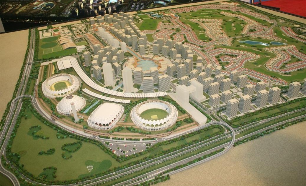 Pictures Of Toy Models Of Cities : File dubai sports city model pict g wikimedia commons