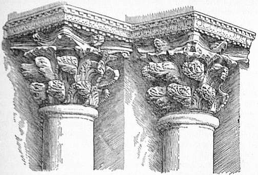 EB1911 Capital Fig 8 Byzantine Capitals From The Central Portal Of St Marks