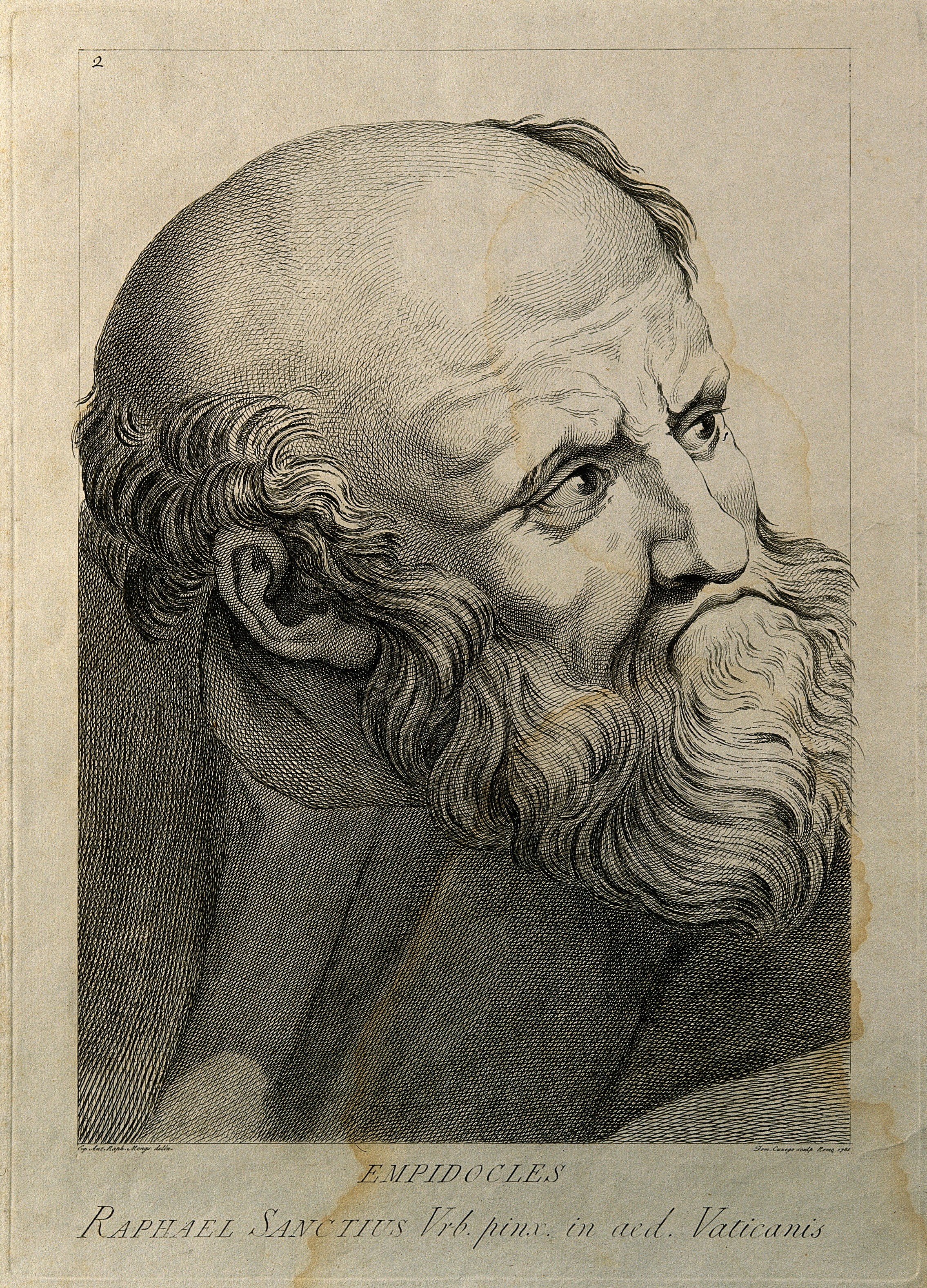 File:Empedocles._Line_engraving_by_D._Cunego,_1785,_after_Raphael_Wellcome_V0001765 on Numbe Line