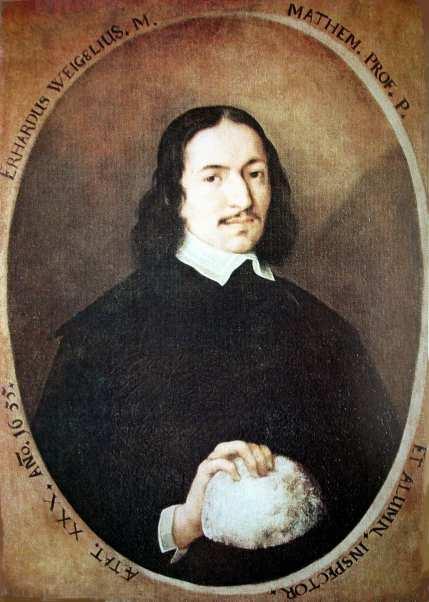 Erhard Weigel, Portrait von 1655, Universität Jena