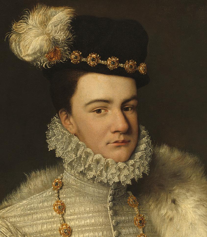 Эркюль Франсуа де Валуа, герцог Алансонский— самый младший сын Екатерины Медичи. (Николас Хиллиард около 1577г.) Елизавета Английская назвала его «её лягушонок», хотя позже, вопреки её ожиданию, она нашла его «не таким уродливым»