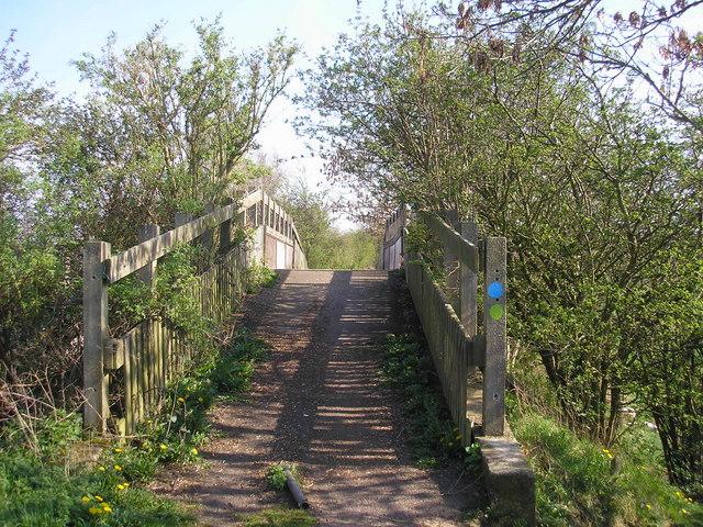 Footbridge on the Railway Walk - geograph.org.uk - 405685