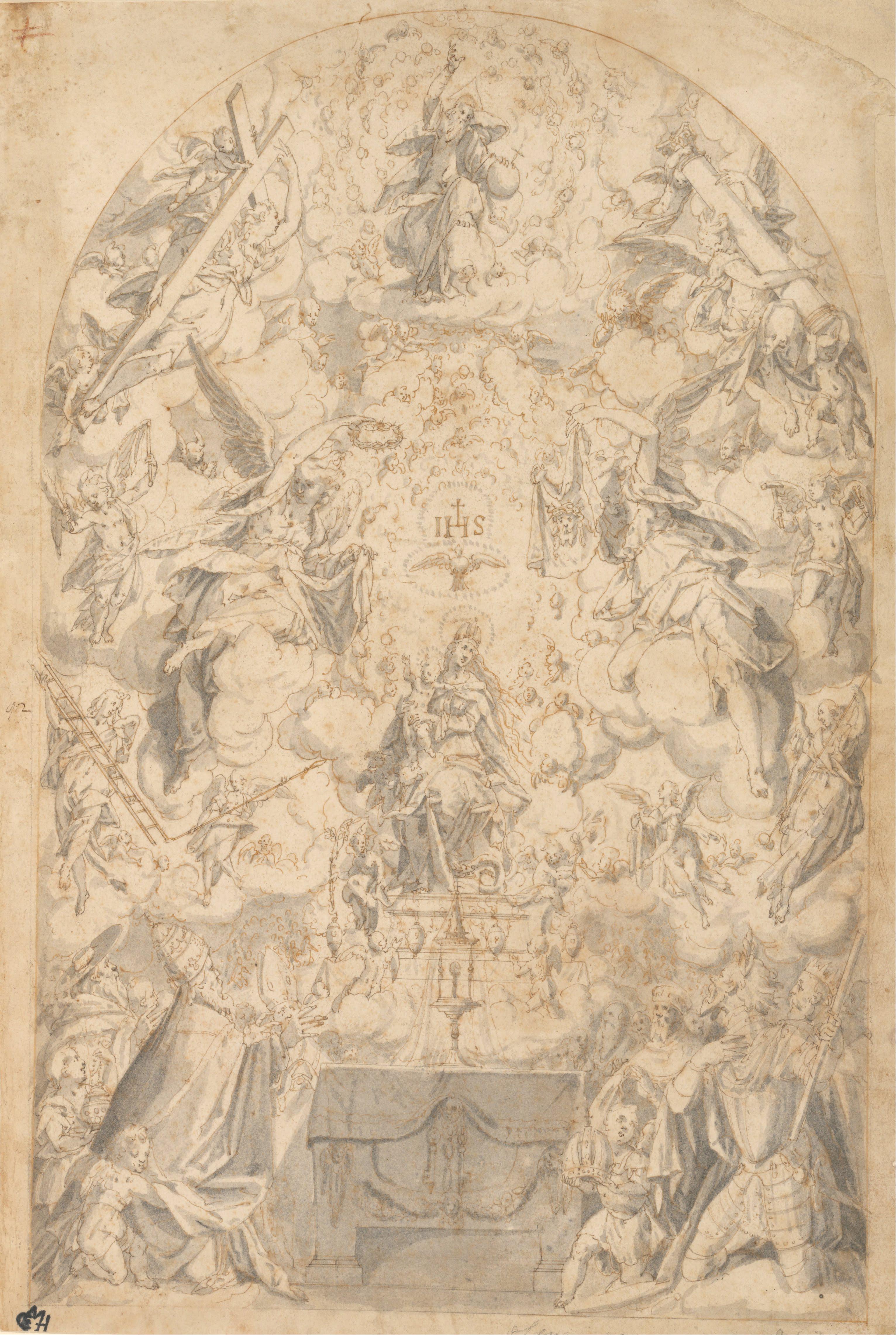 Filefriedrich Sustris Dutch Madonna And Child With Angels