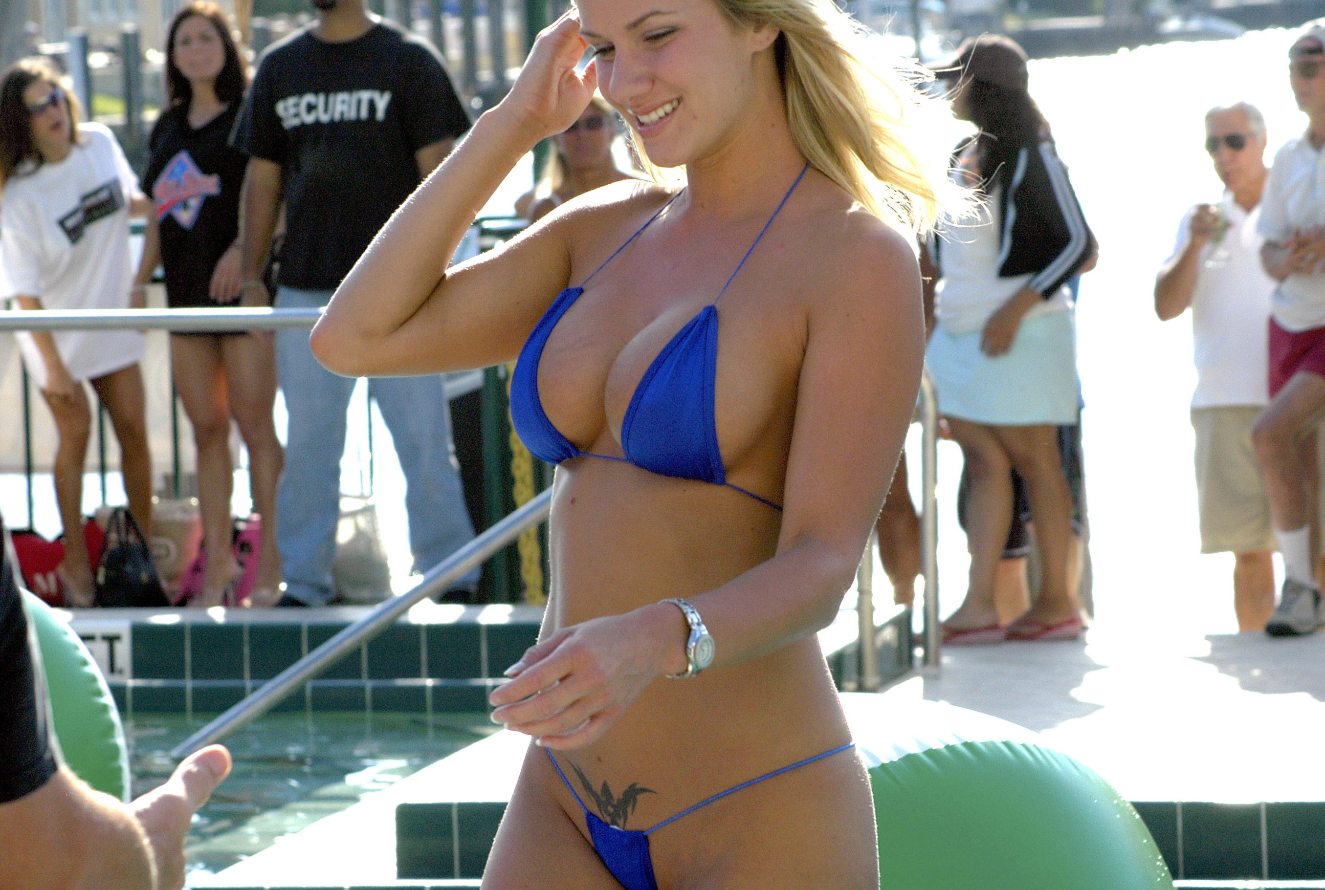 Opinion bikini contest g string removed