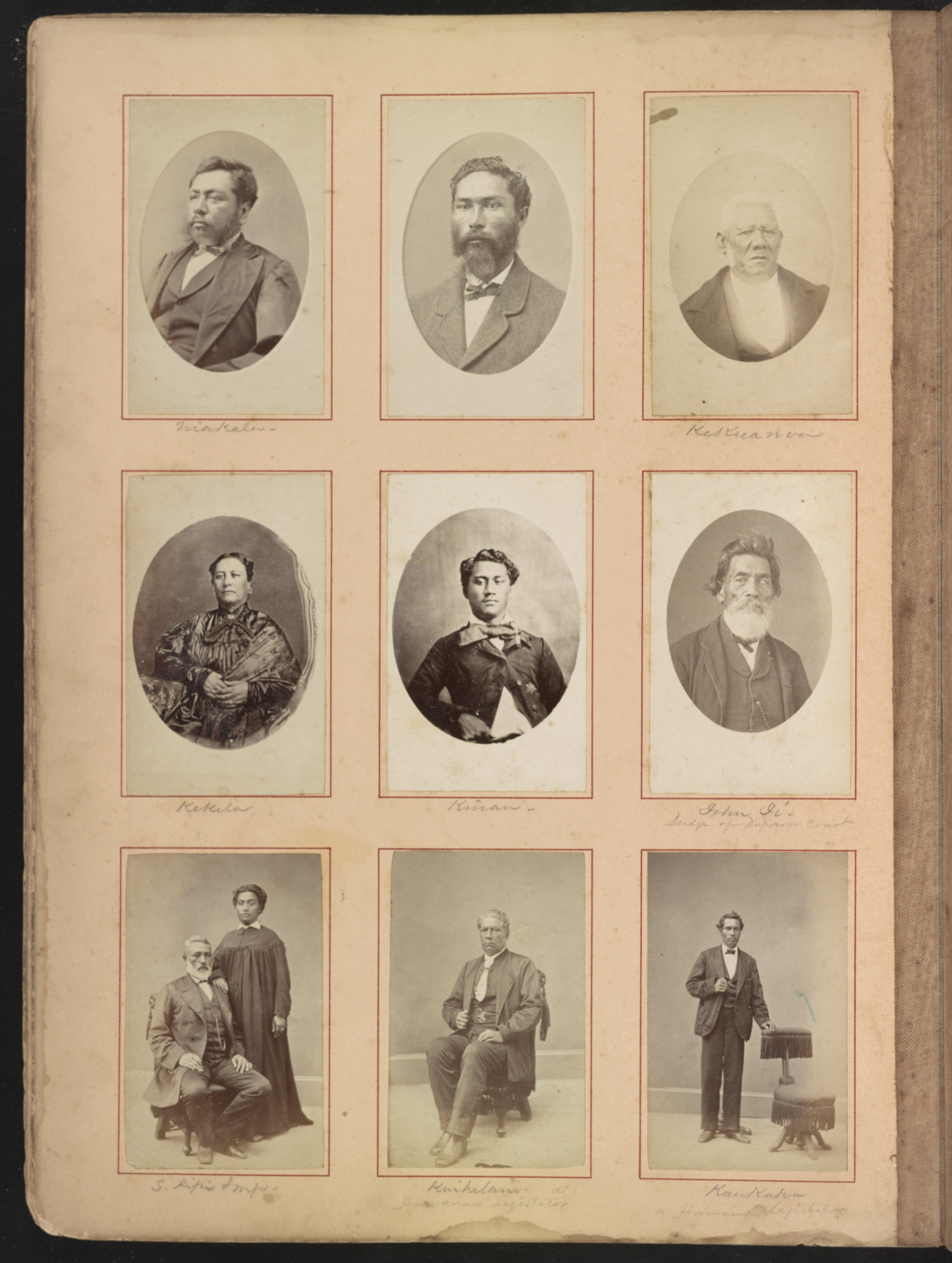 Hawaii album, p. 8, portraits of Hawaiian women and men LCCN2016651396.jpg English: Title: Hawaii album, p. 8, portraits of Hawaiian women and