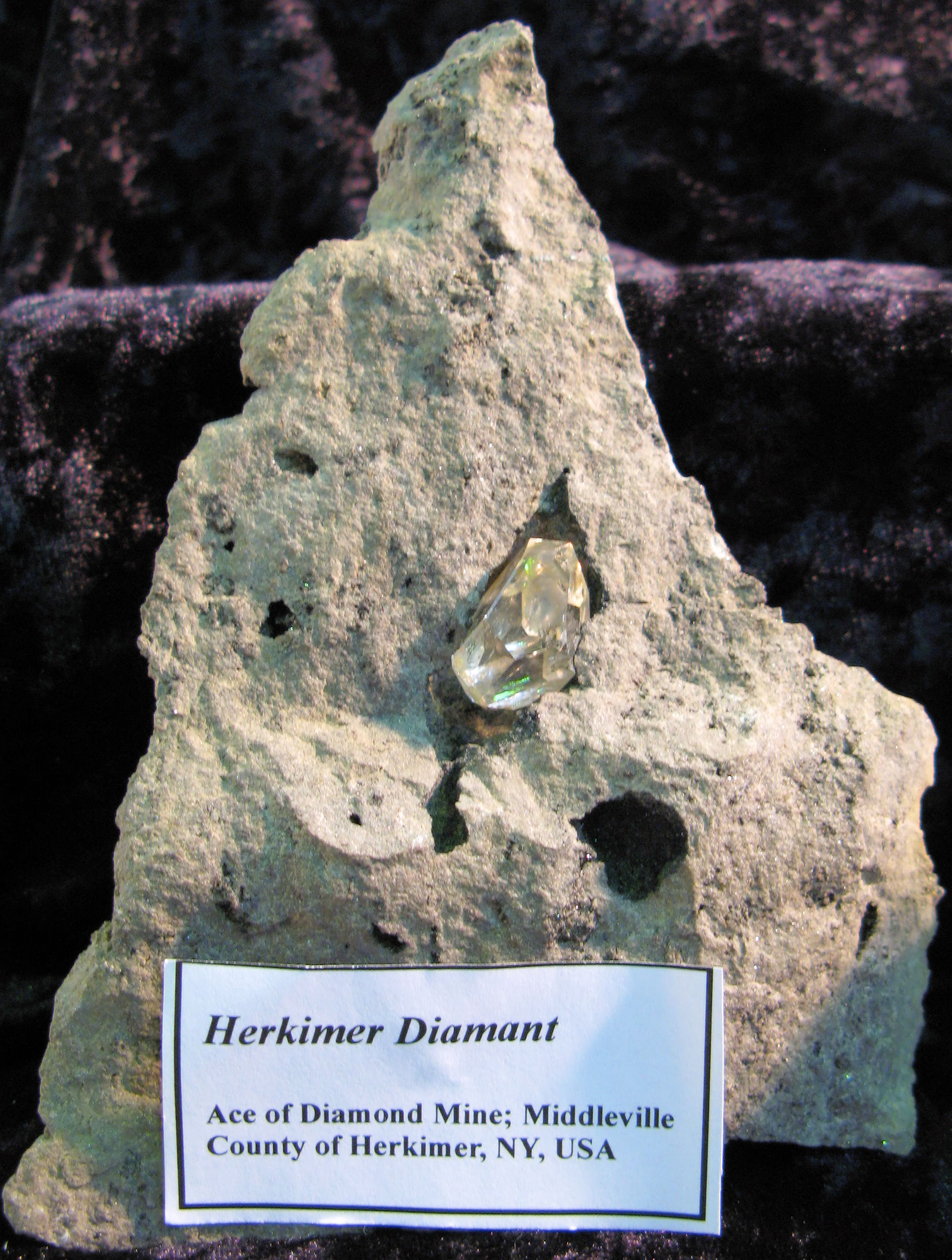 Herkimer Diamant - Middleville, County of Herkimer, NY, USA.JPG