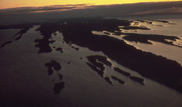 An aerial view of Isle Royale