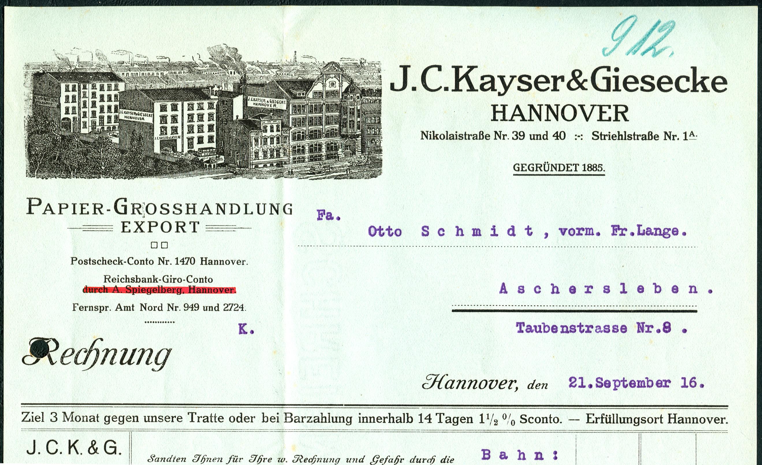 File:J. C. Kayser & Giesecke Hannover Nikolaistraße 39 40 ...