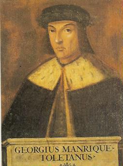 Depiction of Jorge Manrique