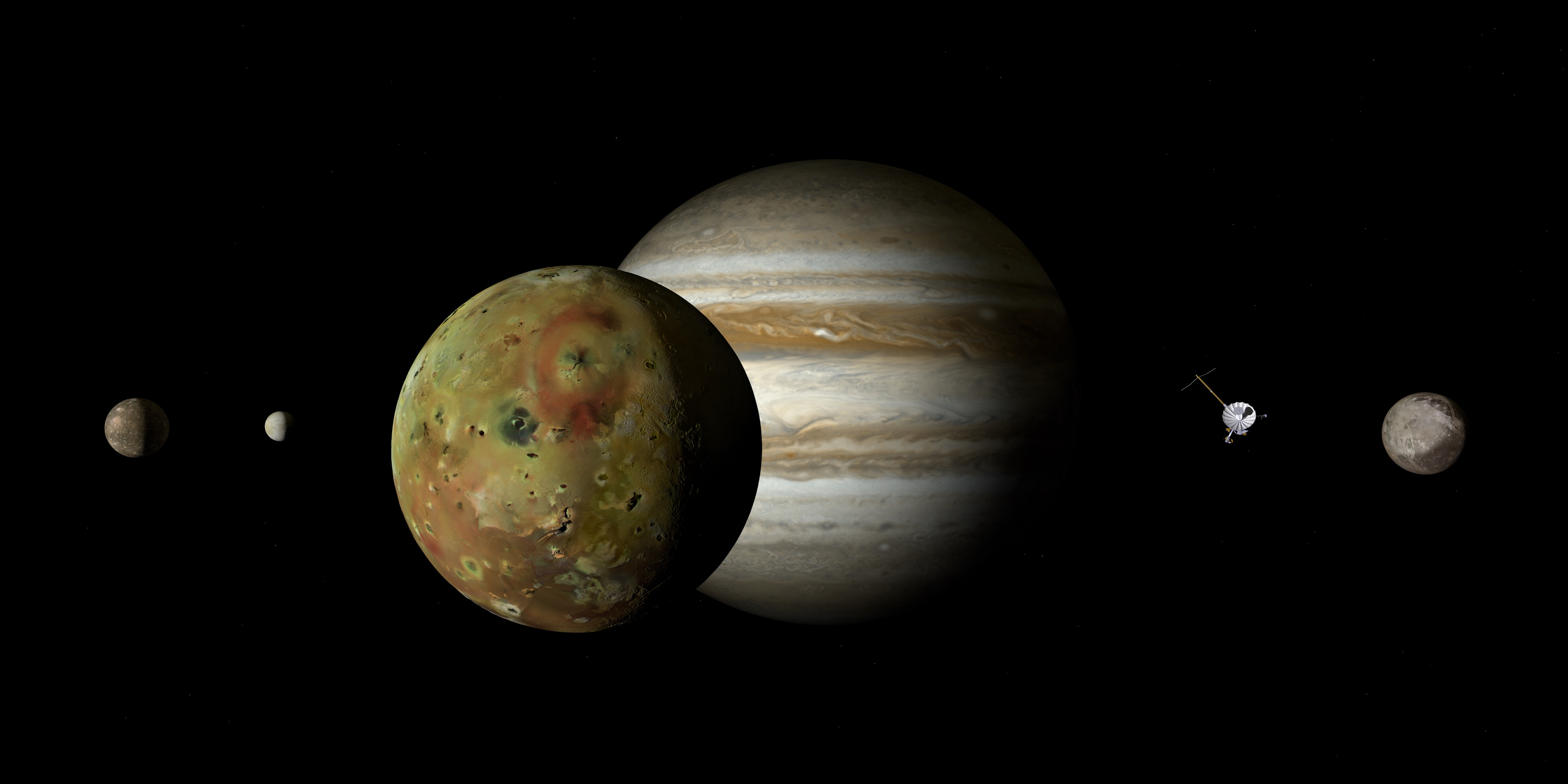File:Jupiter and the four Galilean moons (artistic).jpg ...