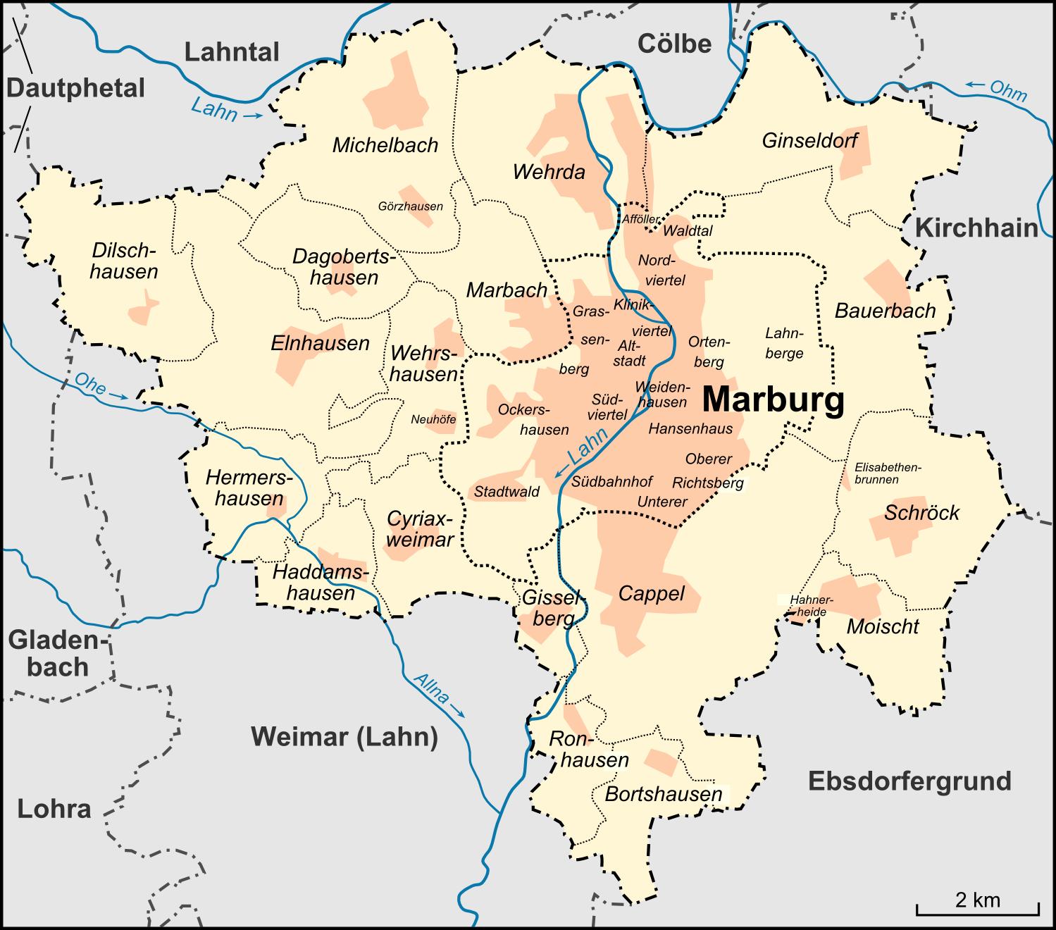 marburg karte Datei:Karte Marburg Stadtteile und Nachbargemeinden.png – Wikipedia