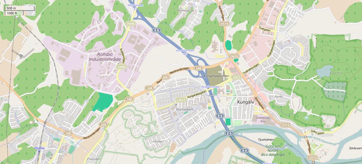 Karta E6 Goteborg.File Kungalv Ytterby Osm Karta Png Wikimedia Commons