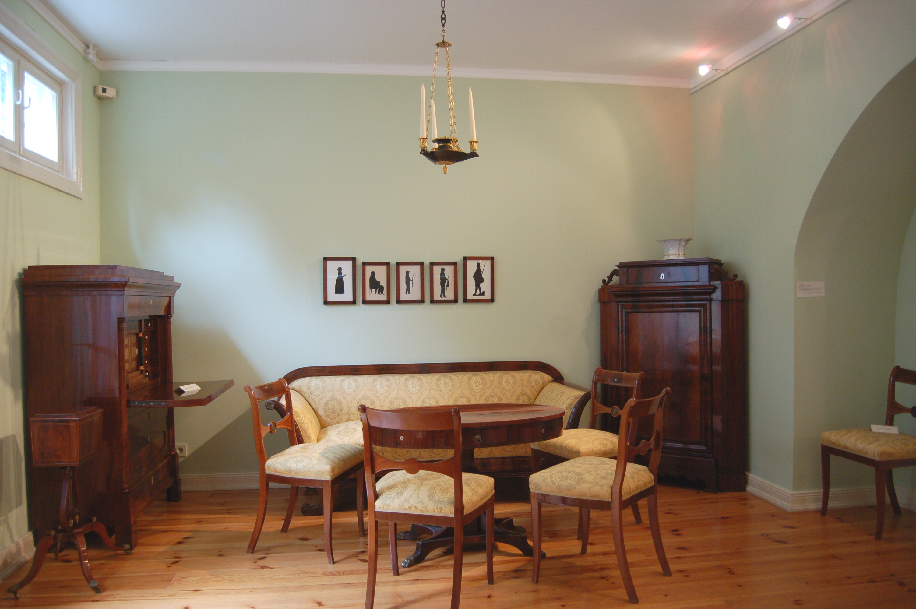 Biedermeier Wohnzimmer Um 1830