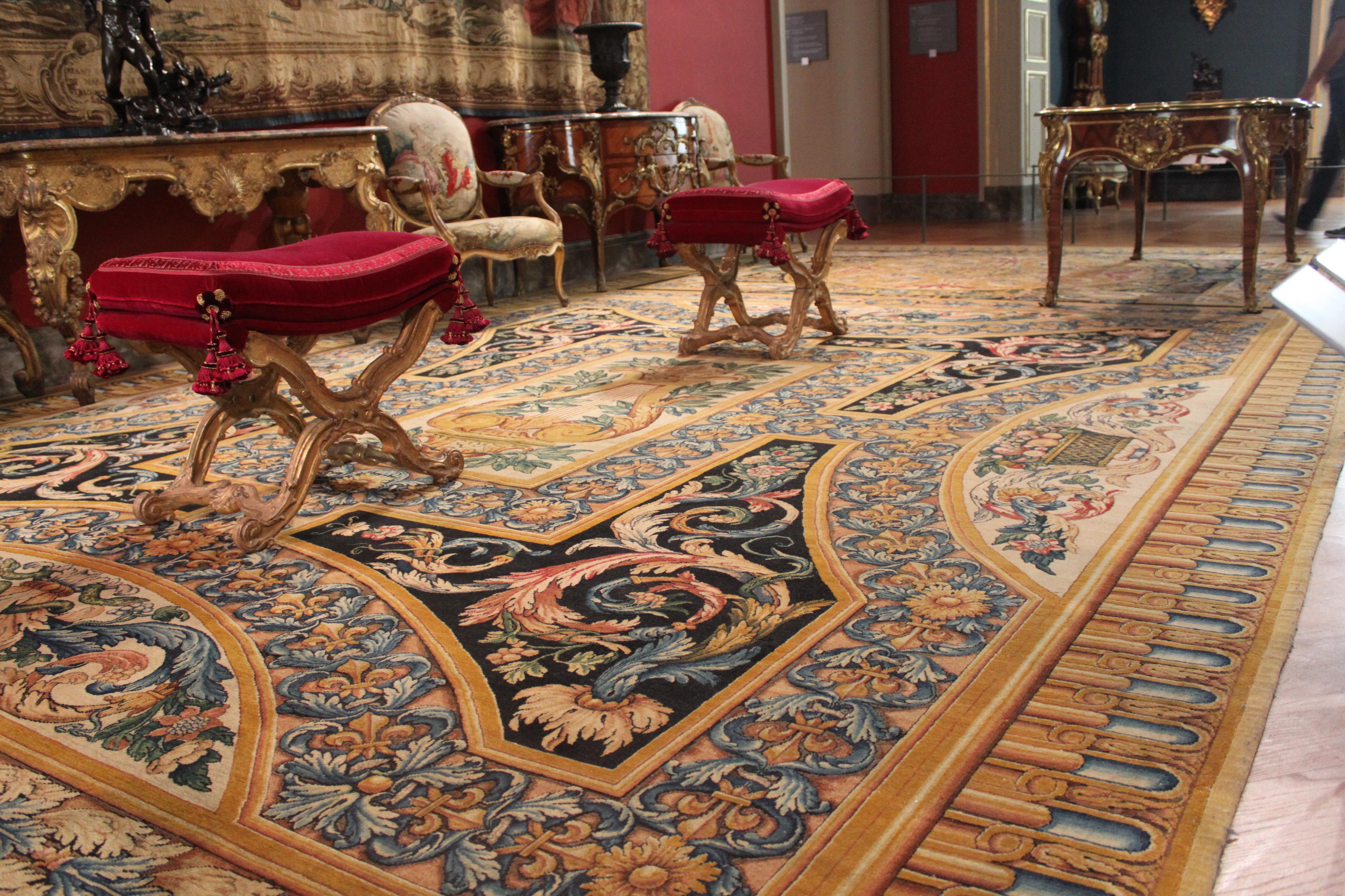 File Louvre Galerie D Apollon Tapis Partie Centrale Jpg